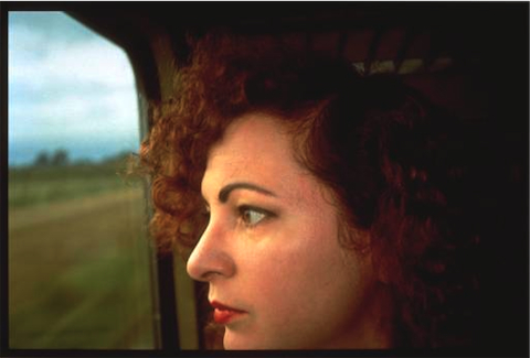Nan Goldin: Self-portrait on the train, Germany 1992