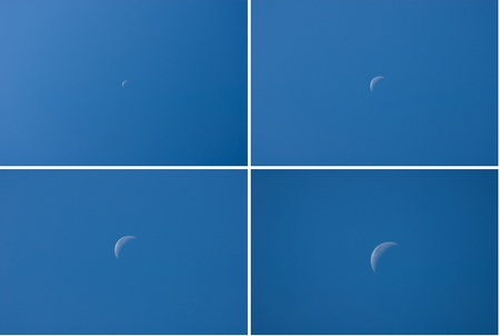 Mond Brennweitenvergleich