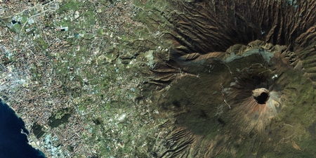 Satellitenfoto Vesuv Auge des Himmels Weltraum