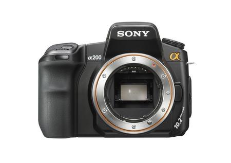 Sony a200 ohne Objektiv von vorne