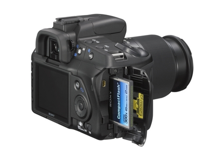 Sony a200 Cardslot Compact Flash