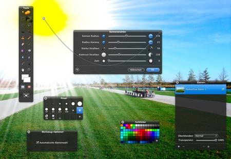 Pixelmator Sonnenschein Mac Bildbearbeitung Photoshop-Konkurrenz