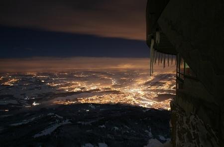 Pilatus Nachtaufnahme Schweizer Mittelland Matthias Kreienbühl