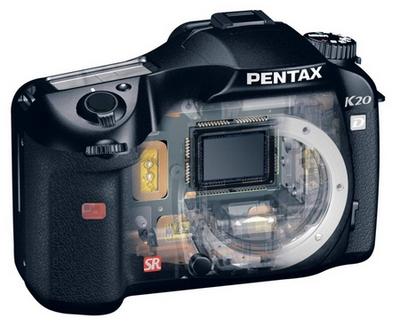 Pentax K20 Durchblick offen Spiegelreflex