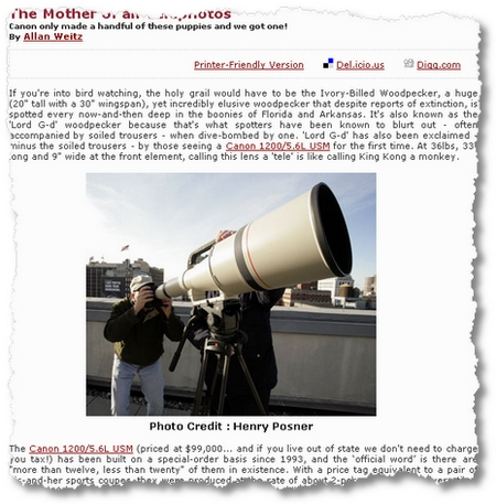 Canon 1200mm Teleobjektiv bei B&H