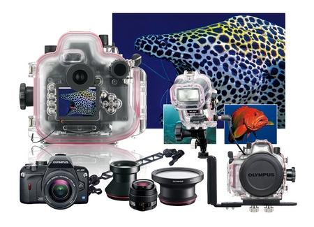 Olympus E-410 Unterwasser Ambiente Blitz