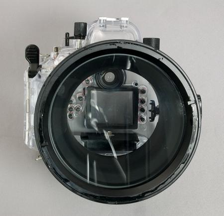 Olympus Unterwassergehäuse PT-E03 von vorne leer W.D.Roth