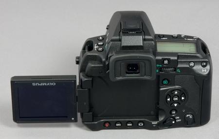 Olympus E-3 Monitor ausgeklappt