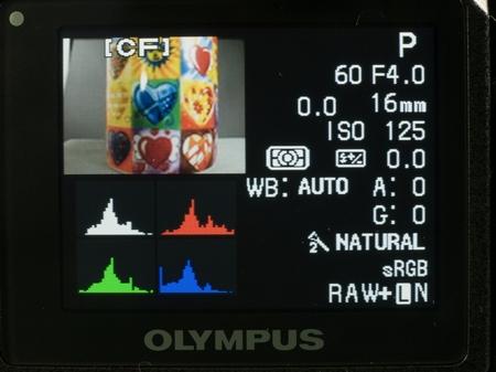 Olympus E-3 Wiedergabe mit Farbhistogramm W.D.Roth