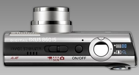 Canon Ixus 860 IS von oben