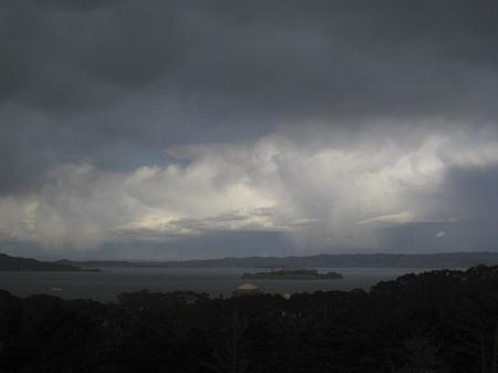 Ixus 860 IS Regen über Alcatraz
