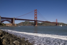 Fort Point und Golden gate Brücke