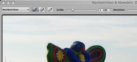 Abwedeln und nachbelichten mit Apple Aperture 2.1