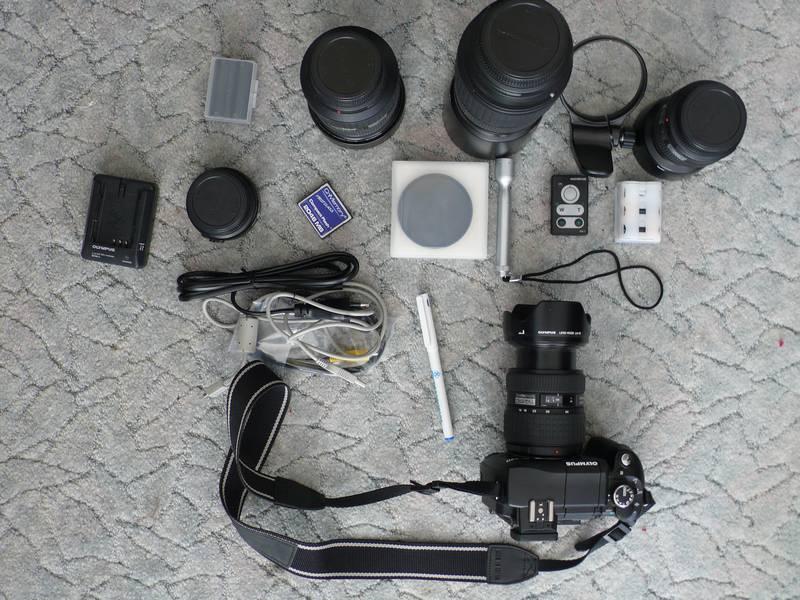 Muss alles in eine Tasche: Olympusausrüstung