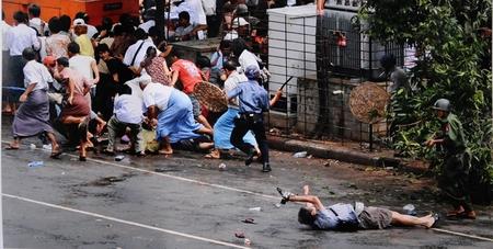 Adrees Latif schoss dieses Bild des sterbenden Videojournalisten Kenji Nagai in Myanmar