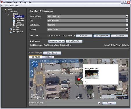 Microsoft Pro Photo Tools - Geotagging händisch leicht gemacht