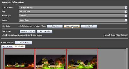 Microsoft Pro Photo Tools: In einem Aufwisch Adressen eintragen - ein mausklick genügt für ganze Gruppen von Fotos.