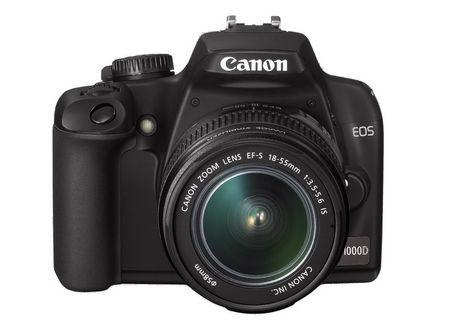 Die EOS 1000d von Canon ist das neue Einsteigermodell: 10 Megapixel, im Set mit 18-55mm Linse erhältlich. (Bild Canon)
