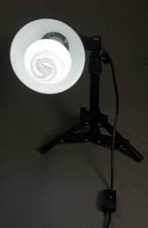 Somikon Fotolampe nach dem Einschalten