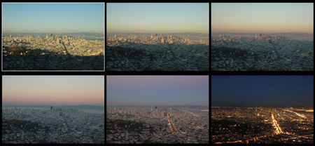 San Francisco, Sonnenuntergang gesehen ab Twin Peaks (Foto PS / fokussiert.com)