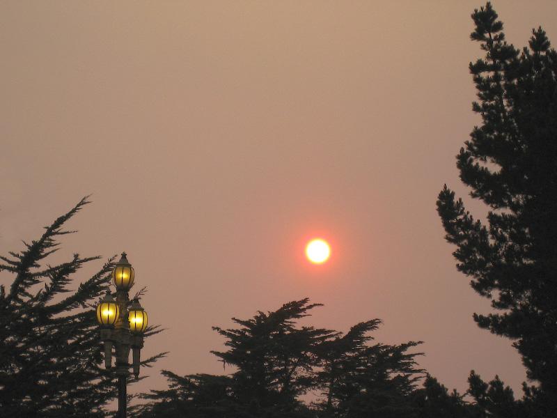 Sonnenuntergang mit Konkurrenz. (© P. Sennhauser)