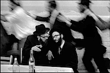 Leonard Freed: Israel, 1972, Jerusalem, Hassidic Jews celebrating