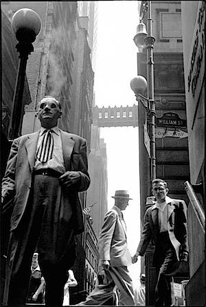 Leonard Freed: New York, 1956, Wall Street