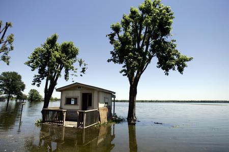 Überschwemmungen in den USA, Juni 2008 (Keystone)