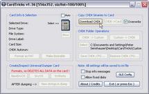 Die Entwickler des CHDK lassen Laien nicht allein: Cardtricks formatiert nicht nur die SD-Karte mit dem korrekten Format und macht sie bootable, sondern integriert auch den Download der gehackten Firmware.