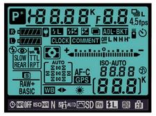 D90 LCD info