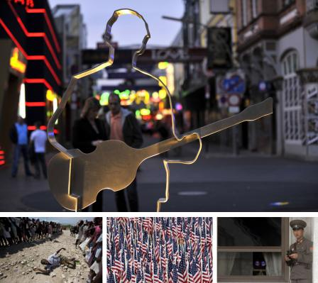 Hamburg, Deutschland; Gonaives, Haiti, Washington DC, USA; Panmunjom, Korea. -> Bildgalerie (Bilder Keystone)