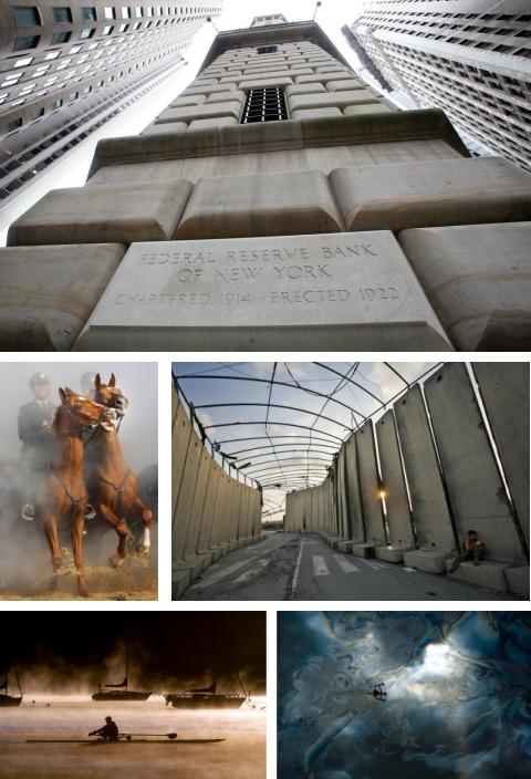 New York, USA; Scheveningen, Holland; Gaza, Israel; Frisco, Colorado, USA; Houston, Texas. (Bilder Keystone)