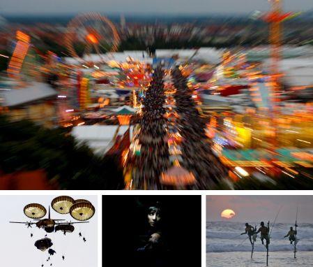 München, Deutschland; Arnheim, Niderlande; Lissabon, Portugal; Koggala, Sri Lanka (Bilder Keystone)