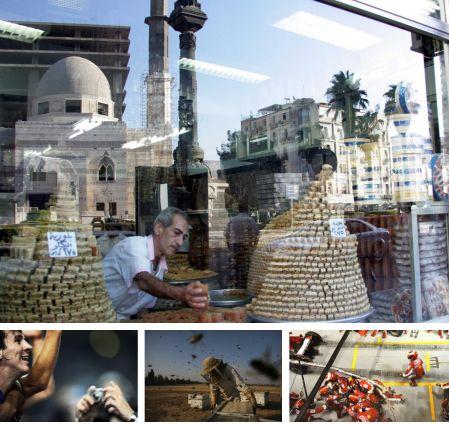 Damaskus, Syrien; Barcelona, Spanien; Negev, Israel; Singapur. (Bilder Keystone)
