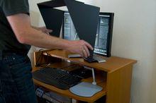 Die erste, steife Version des Blendschutzes (Bild PS / fokussiert.com)