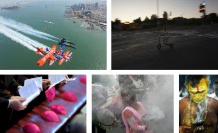 San Francisco, USA; Jerusalem, Israel; Rom, Italien; Mumbai, Indien; Kulasekarapattinam, Indien. (Bilder Keystone)