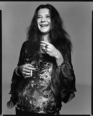 Janis Joplin, singer, Port Arthur, Texas, August 28, 1969 Photograph Richard Avedon © 2008 The Richard Avedon Foundation