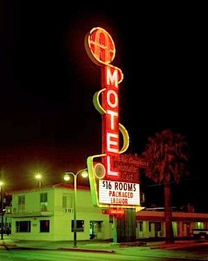 Albert Watson: Albert Watson A Motel, Freemont Street, Las Vegas, 2001