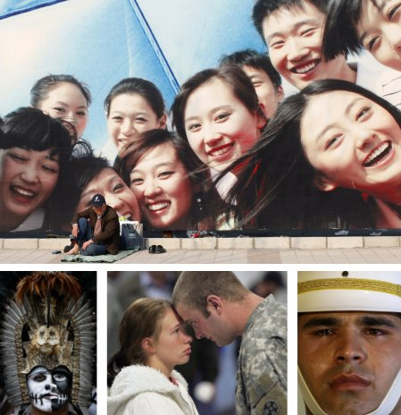 Peking, China; Mexico City, Mexico; Sturgis, Michigan, USA, Ankara, Türkei. (Bilder Keystone)