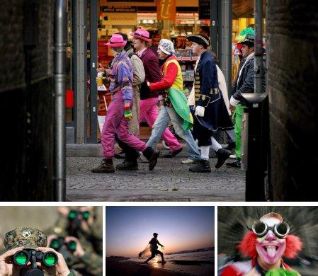 Maastricht, Niederlande; Banja Luka, Bosnien; Gaza City, Palästina; Köln, Deutschland. (Bilder Keystone)