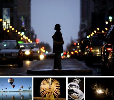 Philadelphia, USA; Leon, Mexico; Algiers, Algerien; Morgarten, Schweiz; Cape Canaveral, USA. (Bilder Keystone)