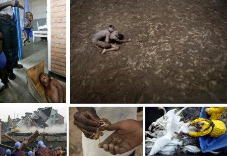 Kibati, Kongo; Lahore, Pakistan; Hangzhou, China; Harare, Zimbabwe; Hamburg, Deutschland. (Bilder Keystone)
