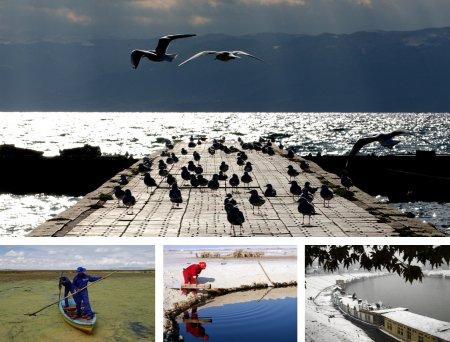 Ohrid, Mazedonien; Pajchiri , Bolivien;Sakhri, Bahrain;Shrinagar, Indien. (Bilder Keystone)