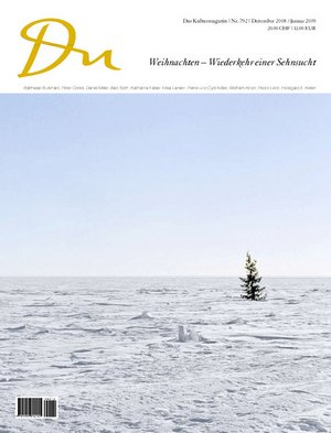 Kulturzeitschrift Du, Ausgabe vom Dezember 2008 - erhältlich ab 3. Dezember