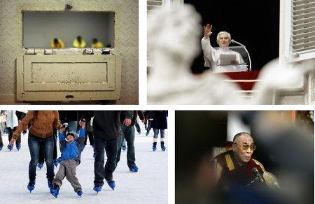 Baghdad, Irak; Rom, Italien; London, England; Darsalam, Indien. (Klick für Vollbild. Fotos Keystone)