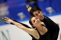 Jessica Dube und Bryce Davison aus Kanada im Übungslauf für den Grand Prix of Figure Skating in Tokyo, Japan. Sportfotografie, ja der Sport selber setzt hier (auch) auf Gesichter. (Keystone / EPA / Everett Kennedy Brown)