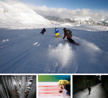 St. Moritz, Schweiz; Füssen, Deutschland; Peking, China; Hebron, Israel. (Klick für Vollansicht. Bilder Keystone)