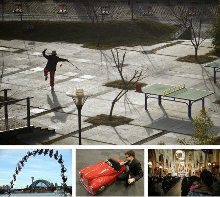 Peking, China; Sidney, Australien; London, England; Mumbai, Indien. Klick für Vollbild. (Bilder Keystone)