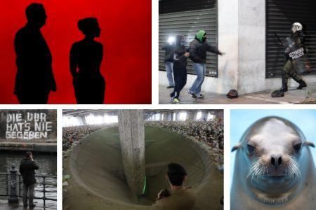 Oslo, Norwegen; Athen, Griechenland; Berlin, Deutschland; Mekka, Saudi-Arabien; Duisburg, Deutschland. Klick für Vollansicht. (Fotos Keystone)