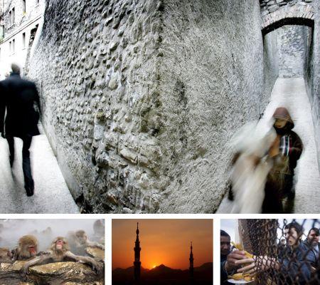 Genf, Schweiz; Yamanouchi, Japan; al-Madina al-Monawara, Saudi-Arabien; Tijuana, Mexiko. Klick für Vollansicht. (Bilder Keystone)
